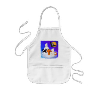 Halloween Ghosts and Friends Kids' Apron