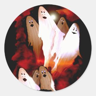 Halloween Ghosts Classic Round Sticker