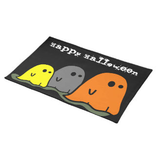 Halloween Ghosts Cute Placemat Cloth Place Mat