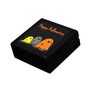 Halloween Ghosts Cute Tile giftbox Jewelry Box