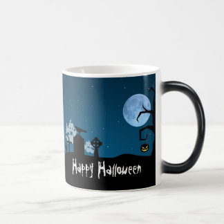 Halloween Ghosts in Graveyard - Mug