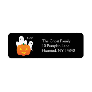 Halloween Ghosts Label