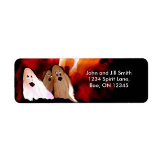 Halloween Ghosts Label