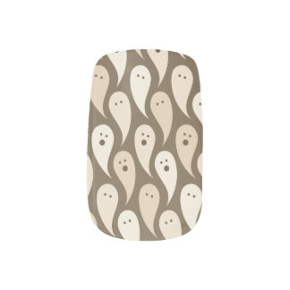 halloween ghosts minx nail art