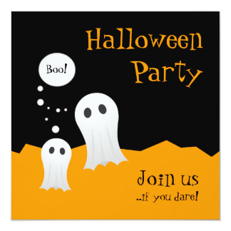 Halloween Ghosts party invitation