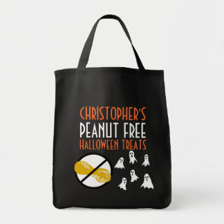 Halloween Ghosts Pattern Personalized Peanut Free Tote Bag