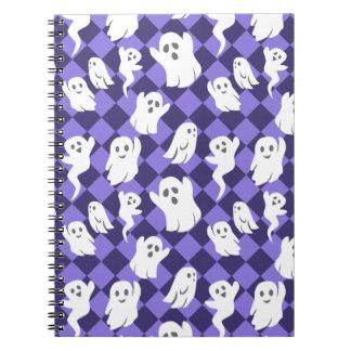 Halloween Ghosts Spiral Note Books