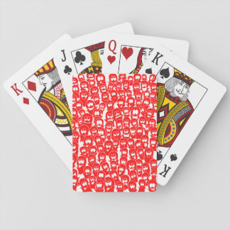 Halloween Ghosts Spirits Red Hand-drawn Doodle Playing Cards