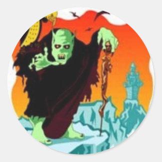 Halloween Ghoul Classic Round Sticker