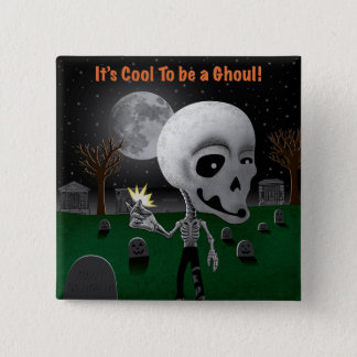 Halloween Ghoul Pinback Button