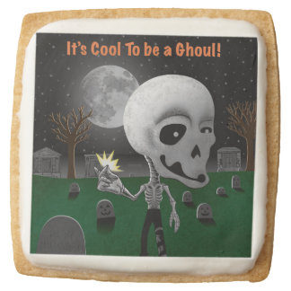 Halloween Ghoul Square Shortbread Cookie