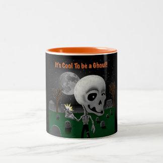 Halloween Ghoul Two-Tone Coffee Mug