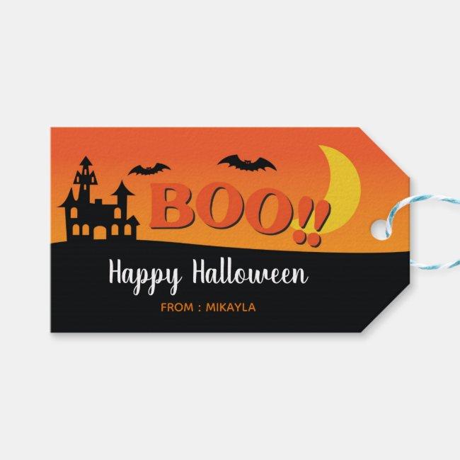 Halloween Gift Tag with Editable Name