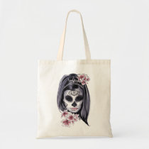 Halloween Girl Day of the Dead Tote Bag