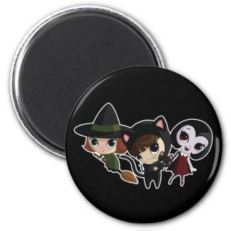 Halloween Girls 2 Inch Round Magnet