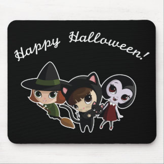 Halloween Girls Mouse Pad