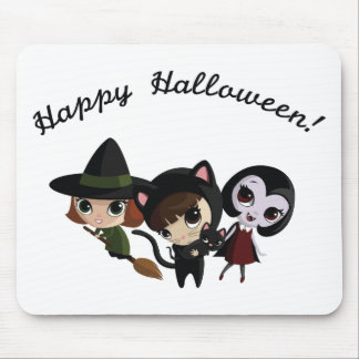 Halloween Girls Mouse Pad