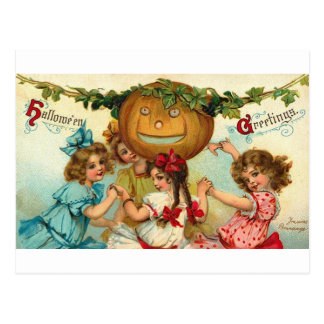 Halloween Girls Postcard