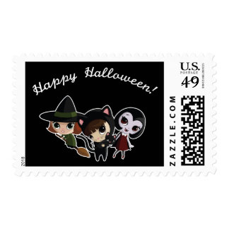 Halloween Girls Stamp