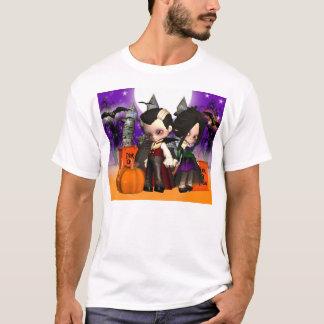 Halloween Girls T with two vampire children T-Shirt