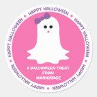 Halloween Girly Ghost Favor Classic Round Sticker