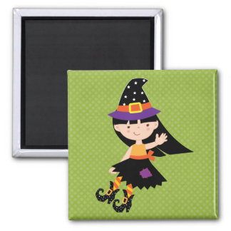 Halloween Girly Witch Fridge Magnets