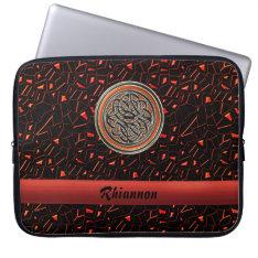 Halloween Glitter Celtic Knot Laptop Computer Sleeve