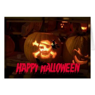 Halloween Glowing Greeting Card