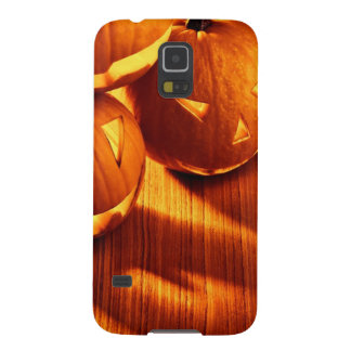Halloween glowing pumpkins border case for galaxy s5