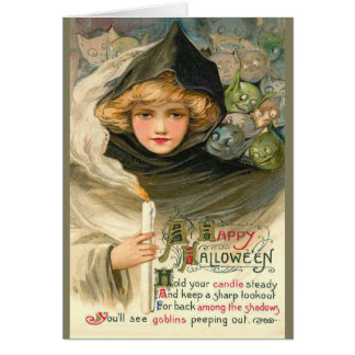 Halloween Goblin Greetings Card