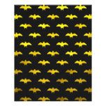 Halloween Gold Faux Foil Bats Black Bat Pattern Photo Print