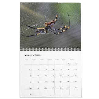 Halloween Golden Spider Calendar