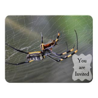 Halloween Golden Spider Card
