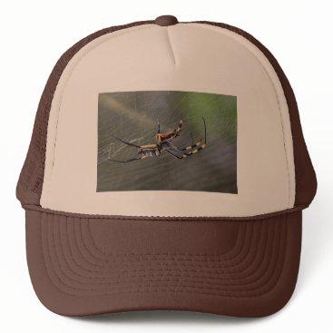 Halloween Themed Halloween Golden Spider Trucker Hat