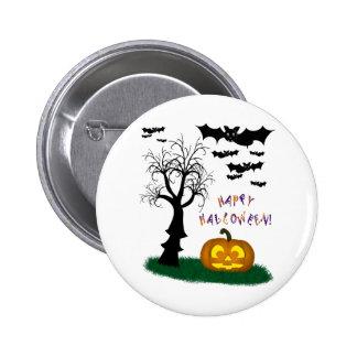 Halloween golpea el árbol fantasmagórico de la cal pin