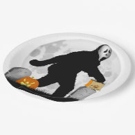 Halloween Gone Squatchin' 9 Inch Paper Plate