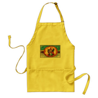 Halloween Good Wishes Witch Adult Apron