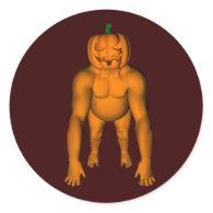 Halloween Gorilla Round Stickers