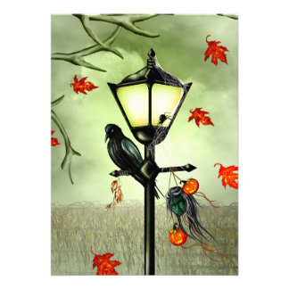 Halloween Goth Crow Card