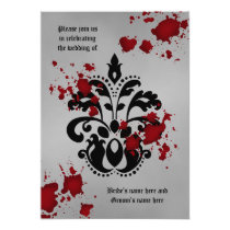 Halloween Goth wedding Card
