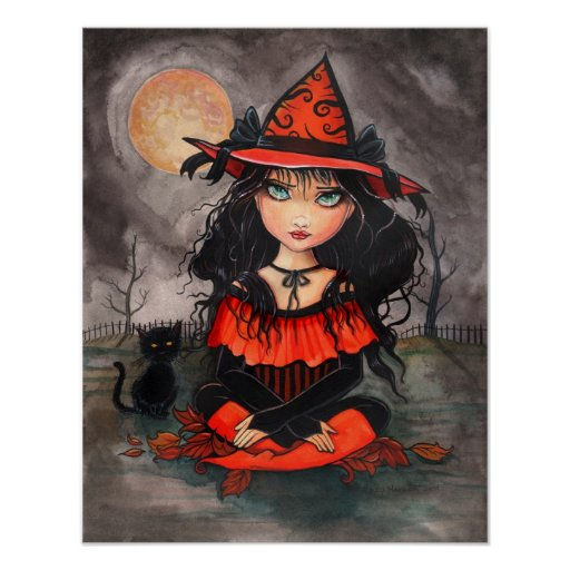 Halloween Gothic Big Eye Art Poster Print