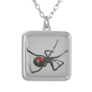 Halloween Gothic Black Widow Spider Necklace