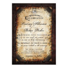 Halloween Gothic Brown Skeleton Wedding RECEPTION Card