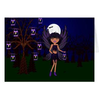 Halloween Gothic Faery Raven Hallow Card