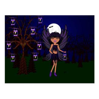 Halloween Gothic Faery Raven Hallow Postcard