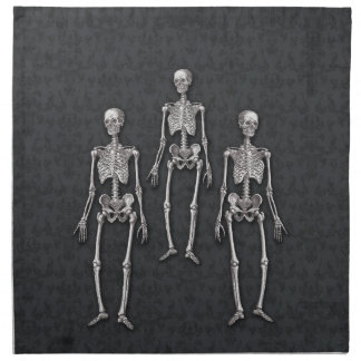 Halloween Gothic Haunted House Victorian Skeletons Cloth Napkin