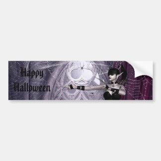 Halloween Gothic Mechanika Girl Bumper Sticker