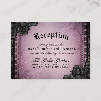 Halloween Gothic Purple Black 3.5 x 2.5 Reception Enclosure Card