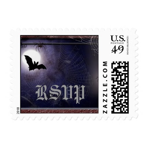 Halloween / Gothic Small RSVP Postage Template