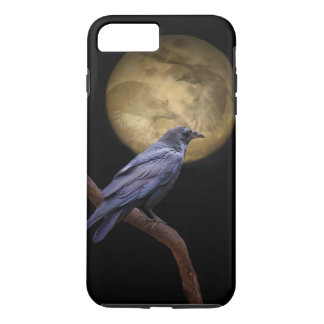 Halloween, Gothic Style Raven and Moon iPhone 7 Plus Case